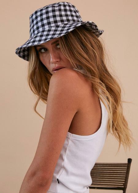 Afends Winona Gingham Bucket Hat