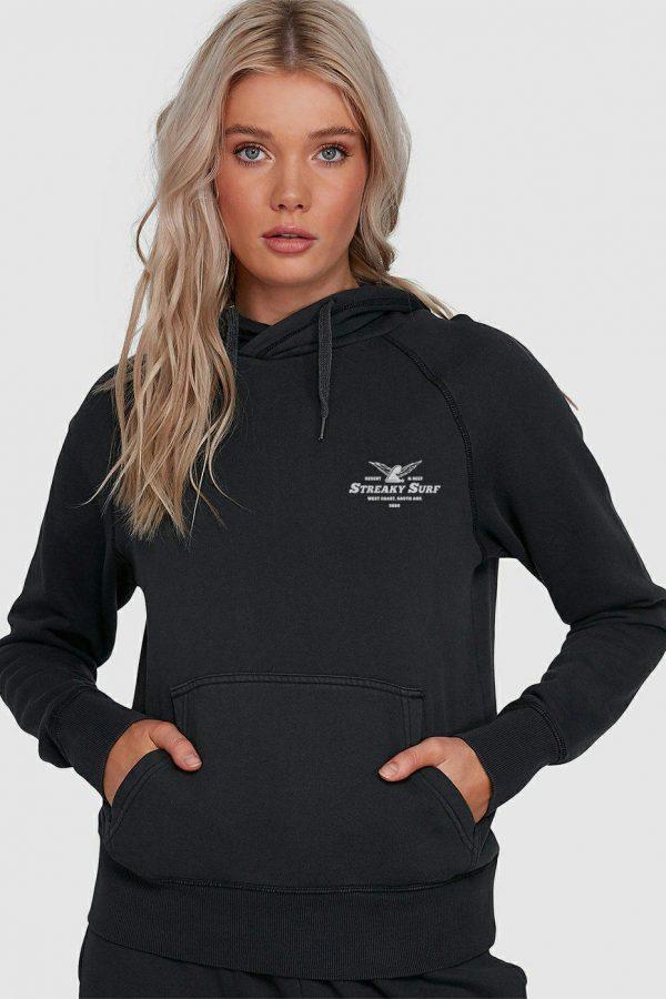 Streaky Surf Ff Womens Black Hood