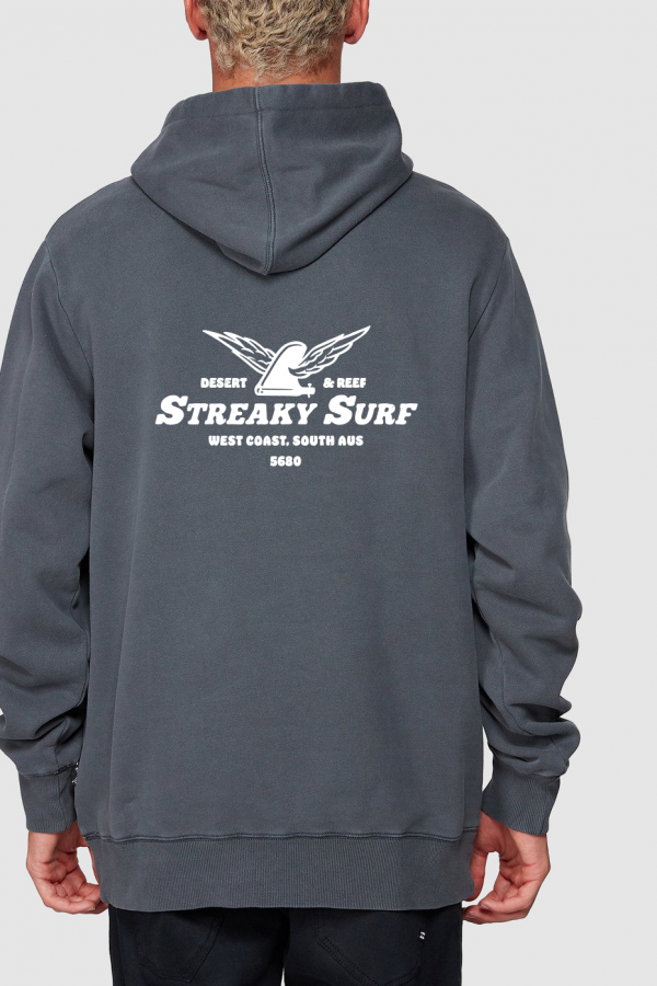 Streaky Surf Ff Washed Black Hood