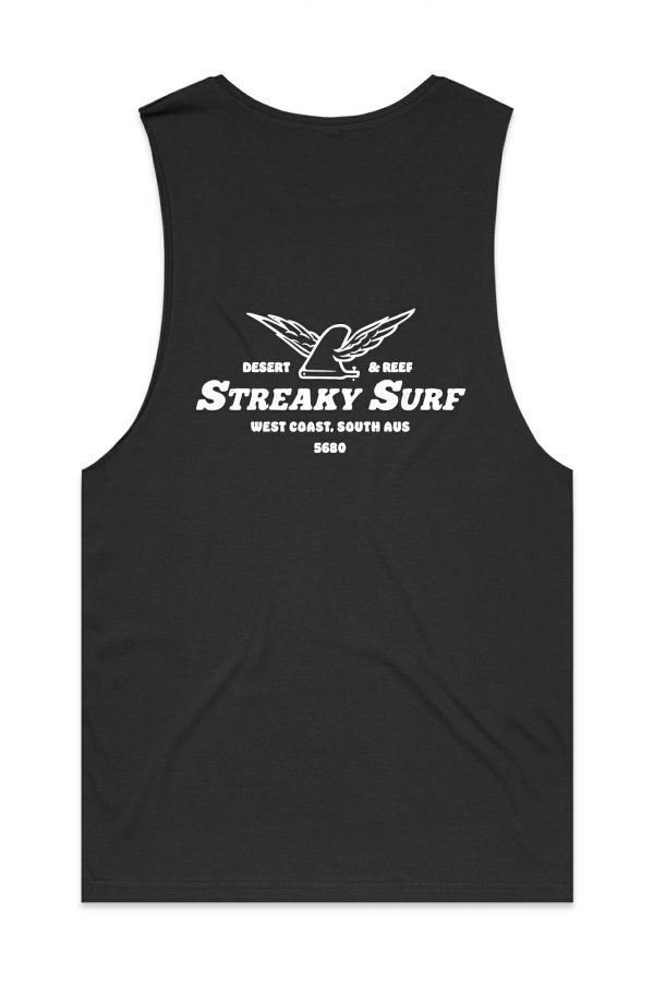 Streaky Surf Flying Fin Charcoal Tank