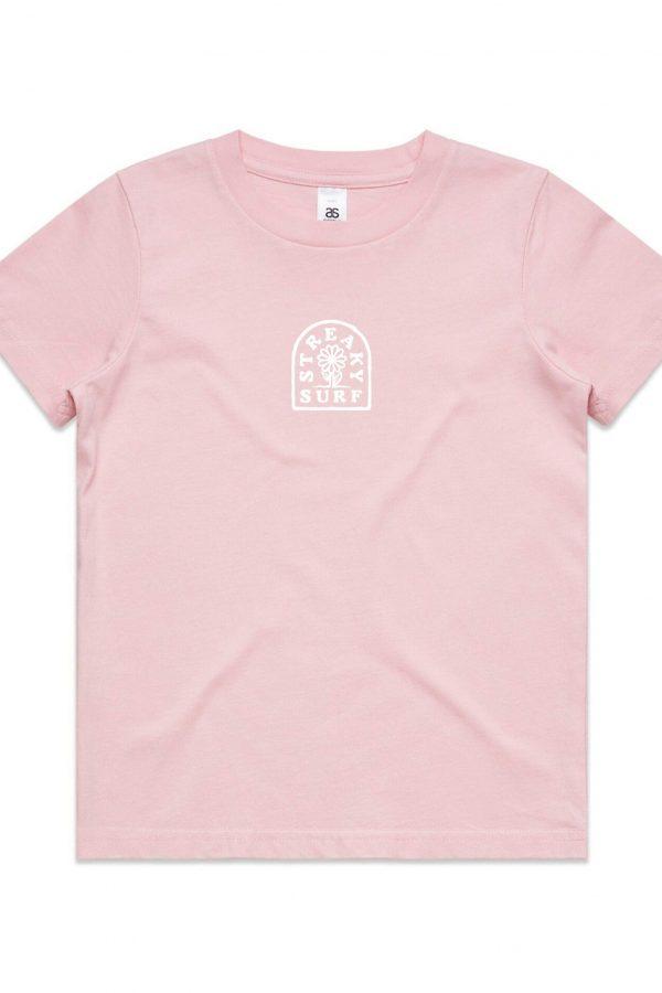 Streaky Surf Arch Pink Kids Tee