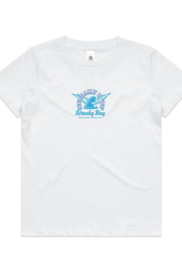 Streaky Surf Retrowing Kids White Tee
