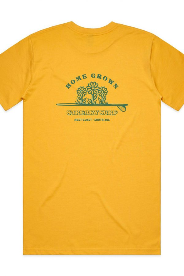 Streaky Surf Homegrown Yellow Tee