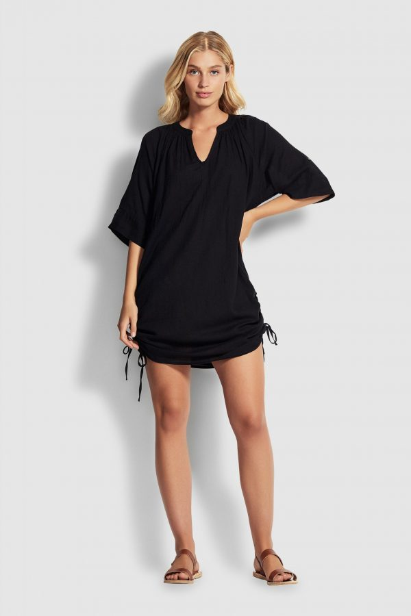 Seafolly Textured Cotton Cover Up