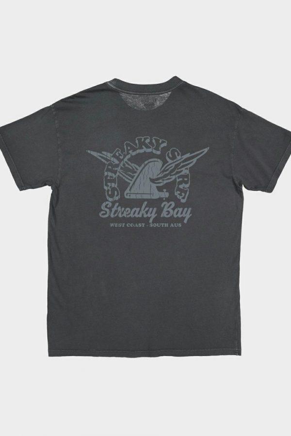 Streaky Surf Retrowing Washedblack Tee