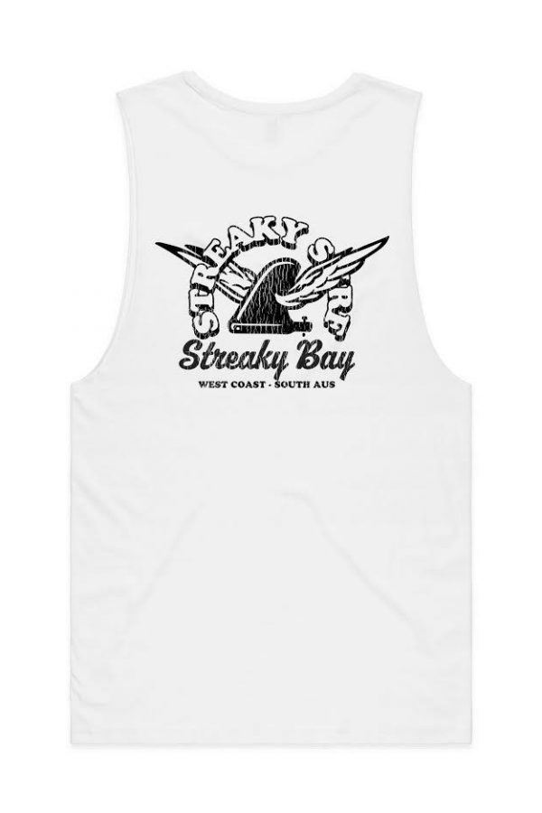 Streaky Surf Retrowing White Tank