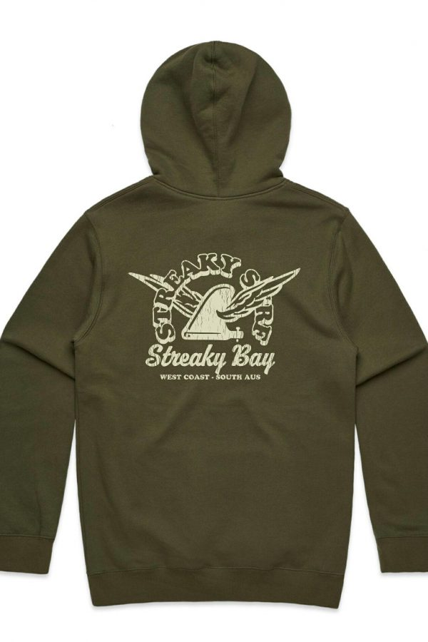 Streaky Surf Retrowing Army Hood