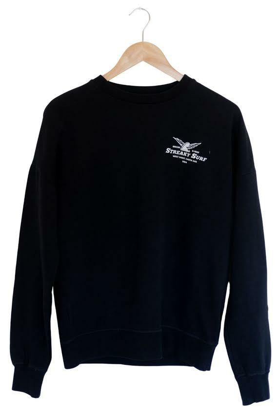 Streaky Surf Flying Fin Black Crew