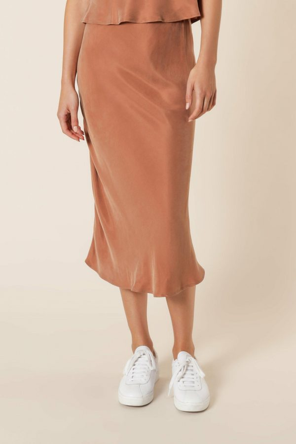 Nude Lucy Reese Cupro Midi Skirt