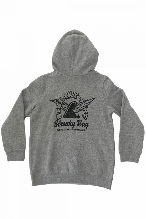Streaky Surf Retrowing Kids Grey Hood