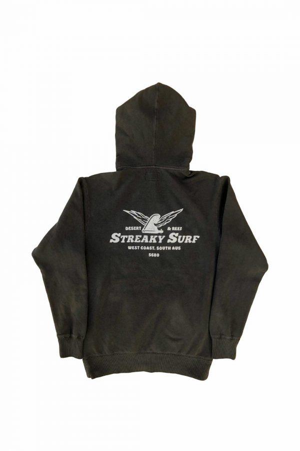 Streaky Surf Flying Fin Wash Blackhood
