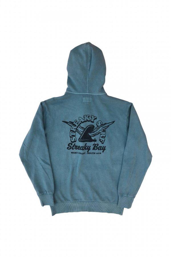 Streaky Surf Retrowing Steel Blue Hood