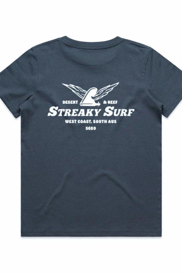 Streaky Surf Kids Flying Fin Petolblue