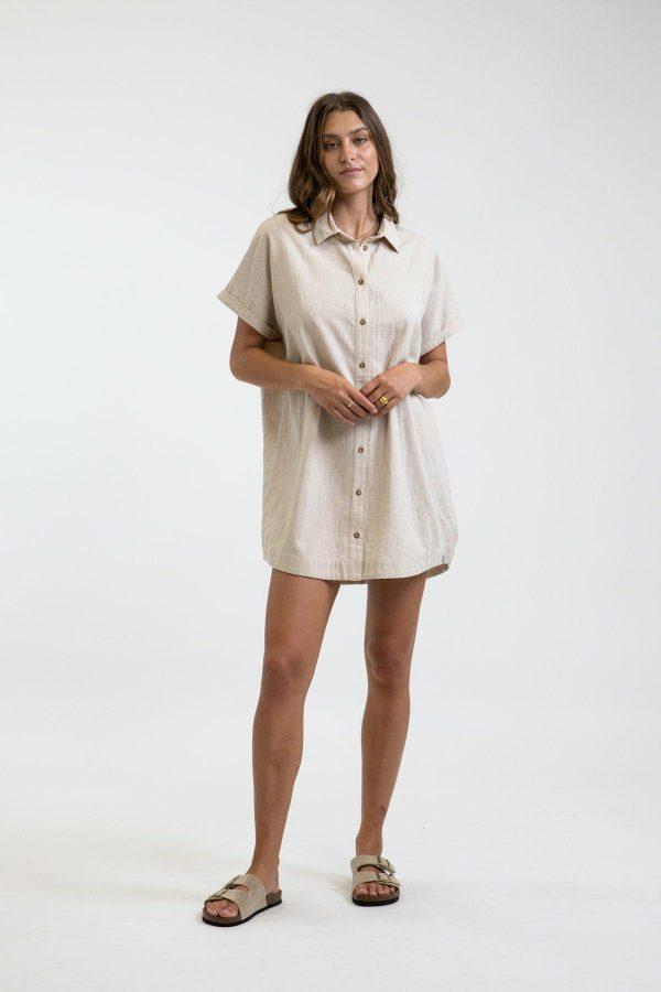 Rhythm Classic Linen Shirt Dress