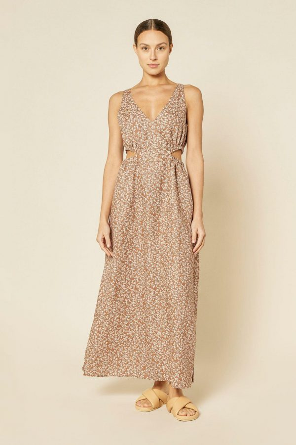 Nude Lucy Alina Cut Out Maxi Dress